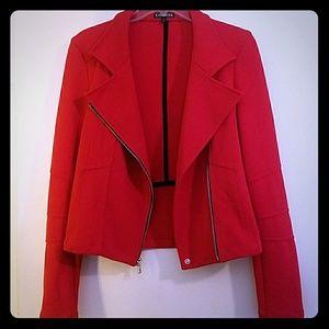 Express brand red moto jacket
